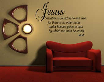 Jesus Salvation is found in no one else, for there   Acts 4:12  inspirational quotes verses of bible Words (MP8)