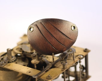 steampunk leather eye patch , scratched  (made to order)