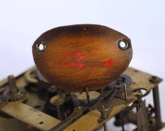 steampunk leather eye patch , bloodied up