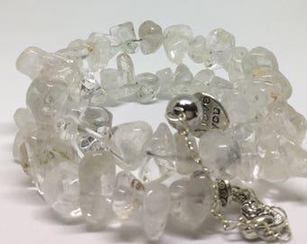 Natural Quartz Crystal Bracelet.