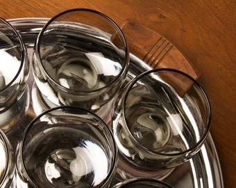 Smoked Glass Roly Poly Bar Glasses