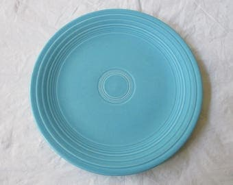 """Vintage Homer Lauglin FIESTA Turquoise 9.5"""" Luncheon Plate"""