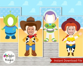 Toy Story Photo Booth Props (includes Buzz, Woody, Jessie & an Alien) - Digital Files