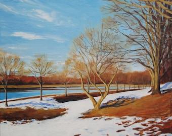 """Original painting """"Snowbreak"""" 12""""x12"""""""