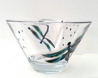 Dragonfly Bowl hand painted