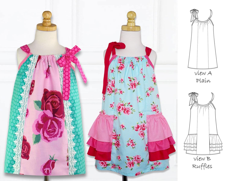 Pillowcase Dress Pattern Pdf Girls Dress Pattern Pdf