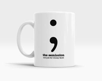 Grammar Mug Semicolon Mugs for Teachers Mugs Funny Mugs Teacher Appreciation Gifts for Her Gifts for Him Gifts for Writers Editors Picks Her