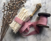 Dusty Rose hand dyed Silk Ribbon, Hand dyed Silk Ribbon, Bouquet Silk Ribbon, Bouquet Silk, Silk Ribbon, Rose Silk Ribbon, Pink Ribbon, Rose