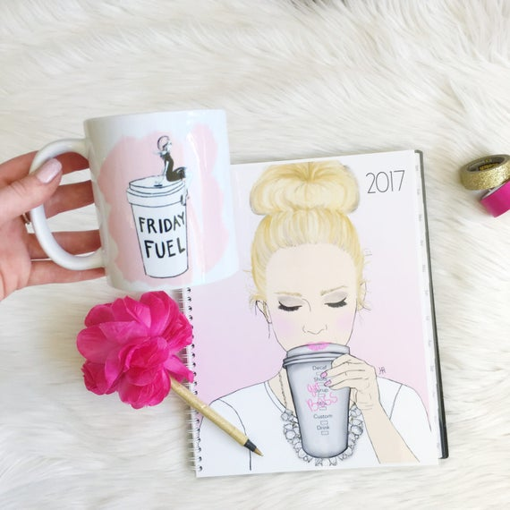 Friday fuel, Fashion mug, girly mug, Fashion illustration, Fashion sketch, shopping lover, shopping addict, gifts for her, coffee lover