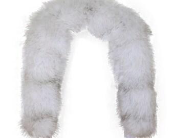 Glacier Wear Natural Blue Fox Fur Ruff 28 inches