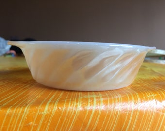 Small Lustreware Serving Bowl, Peach colour by Anchor Hocking, Fire King
