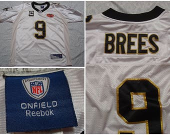 size 40 e881e aead4 reebok new orleans saints drew brees 9 gold replica jerseys sale