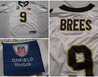 size 40 ecc4e aea4c reebok new orleans saints drew brees 9 gold replica jerseys sale