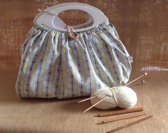 pastel print Knitting bag 535