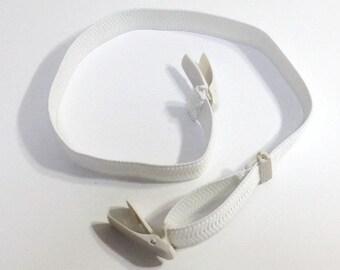 Korin belt for kitsuke ( white ) / useful tool for  wearing kimono beautifully , elastic belt with clips