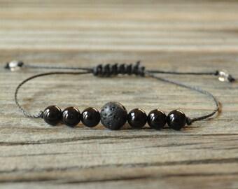 Diffuser Bracelet, Black Tourmaline Bracelet, Beaded Diffuser, Essential Oil Diffuser Bracelet, Yoga Bracelet, Diffuser Jewelry, Healing