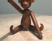 Mid Century wooden monkey