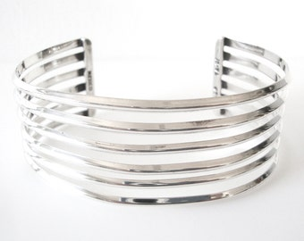 Sterling Silver Cuff Bracelet Made In Mexico