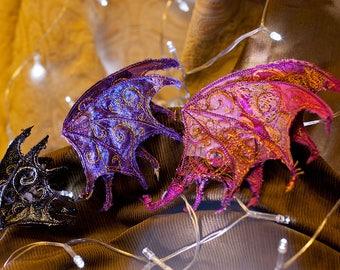 Small Dragon Wing Hair Clip