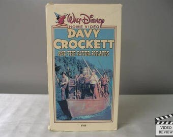 Walt Disney's Home Video - Davy Crockett and the River Pirates VHS - 1956