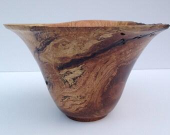 Spalted Oak Vase, Oak Vase, Oak Bowl, Oak Vessel, Wood Turning, Natural Edge Oak Turning