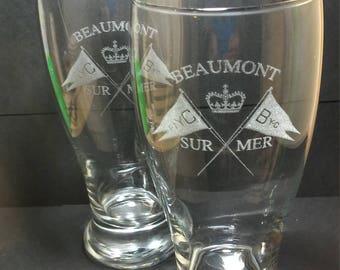 Custom Laser Engraved Pilsner Glass from your design or logo, club,award,school,sports,wedding,anniversary