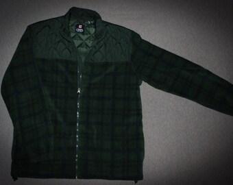 Chaps fleece zip up jacket