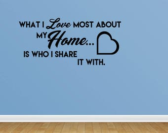 Wall Decal Family Wall Decals Home Quote Wall Decal Vinyl Wall Decals Wall Decor Decal Family Quotes Wall Decals (JP232)