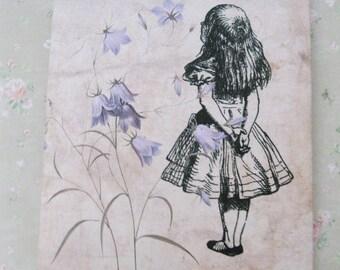 Tea Bag Envelopes - Alice In Wonderland  - Qty of 6 Envelopes