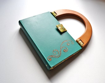 History of France upcycled book purse