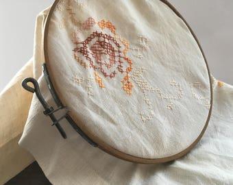 Vintage wooden embroidery hoop Round wooden sewing hoop USSR era sewing hoop
