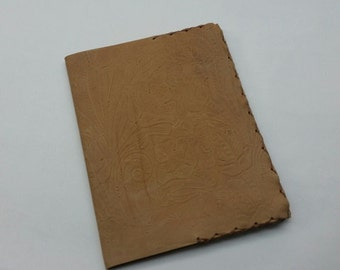 Western Leather Composition Book Cover, Tan Leather Comp Book Cover, Composition Book Cover, Leather Comp Book Cover