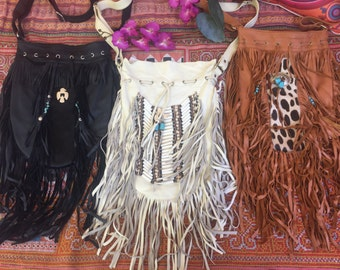 Wholesale lot large size fringe bags  x 3
