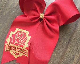 Harry Potter Hogwarts Gryffindor Hair Bow Universal Studios Hermoine Granger Ron Weasley Universal Studios Hogsmeade