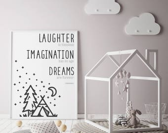 Nursery Art, Tinkerbell Quote, Dreams are Forever