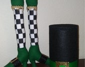 RESERVED for Robin - St Patrick's Day Leprechaun Wreath Attachment Set