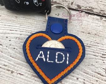 ALDI cart quarter keeper holder keychain