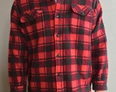 Champion Red and Purple Flannel Jacket with Button Front