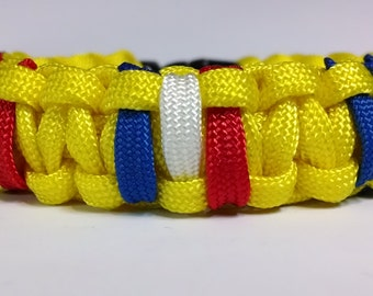 Navy Combat Action Ribbon/Medal Paracord Survival Bracelet
