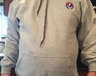 Grateful Dead Embroidered 9.5 oz  hoodie