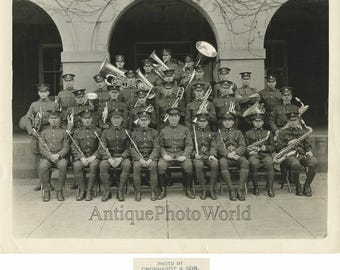 12th Infantry military music band Baltimore Maryland antique 1925 photo