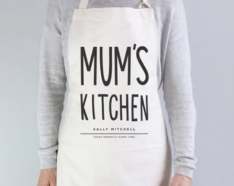 Mum's Kitchen Apron - personalised apron - baking gift - personalised baking apron - personalised kitchen gift - Mother's Day gift