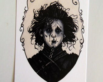 Small Edward Scissorhands Print