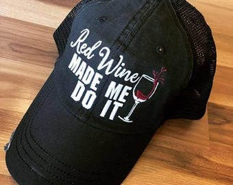 Hats { Red wine hair don't care } Gray or black. 4.94 US ship. 10 Worldwide ship.