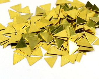 1000 Pcs. Raw Brass 9x9 mm Triangular No Hole Stamping Blanks Findings