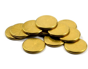 10 Pcs.  Solid Raw Brass 2x18 mm Round Disc Findings