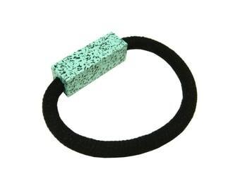 Speckled Fleckled Block Bracelet Bright Turquoise