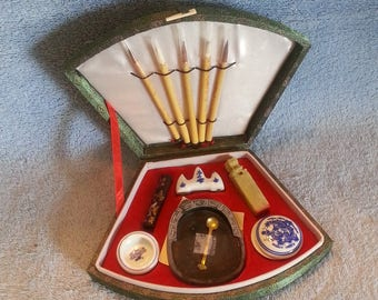 Calligraphy Set - Chinese Calligraphy Set - Treasures of the Scholars Table