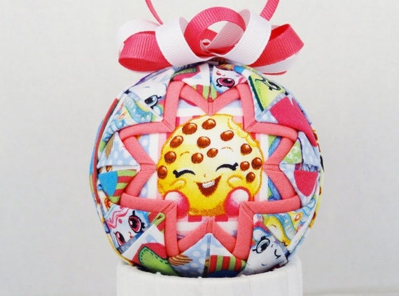 Shopkins Cookie Quilted Ornament Folded Fabric