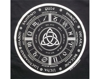 Triquetra Wheel of the Year Astrology Wiccan T-Shirt WH